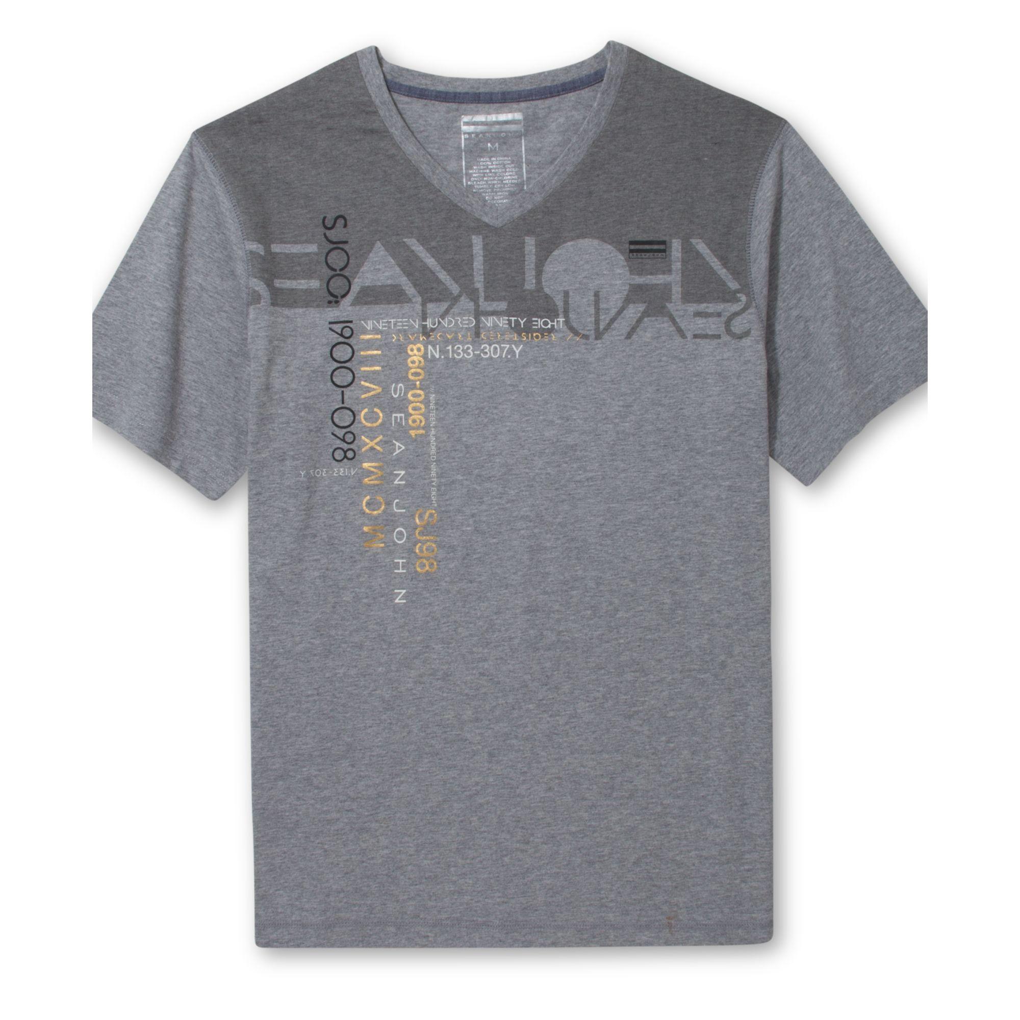 Sean john big tall new era t shirt in gray for men grey for Sean john t shirts for mens