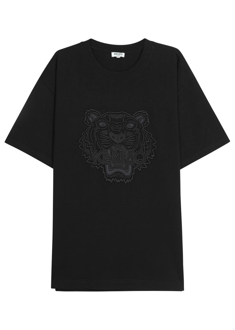 KENZO Black Tiger-embroidered Cotton T-shirt in Black for Men - Lyst c54a6694f