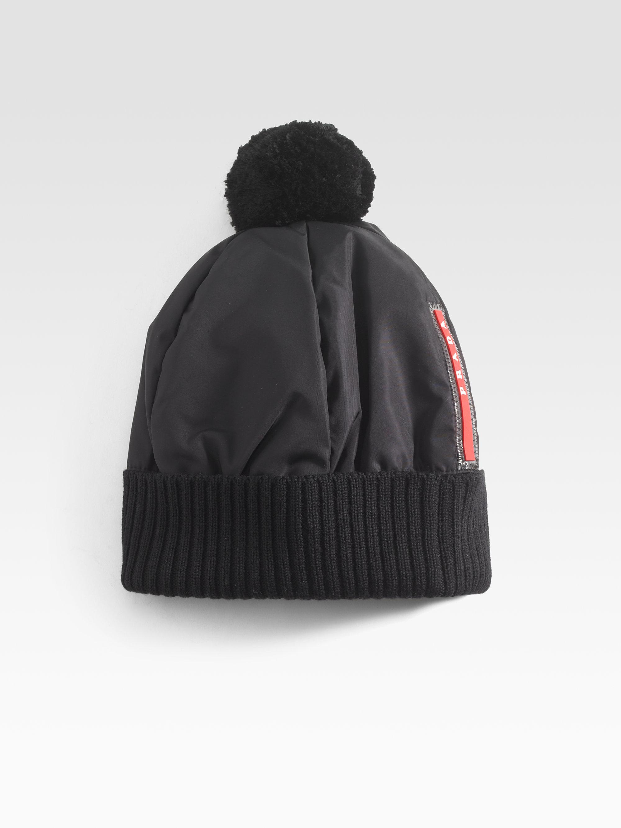 Lyst - Prada Puffer Hat in Blue for Men 1e9cc53533d