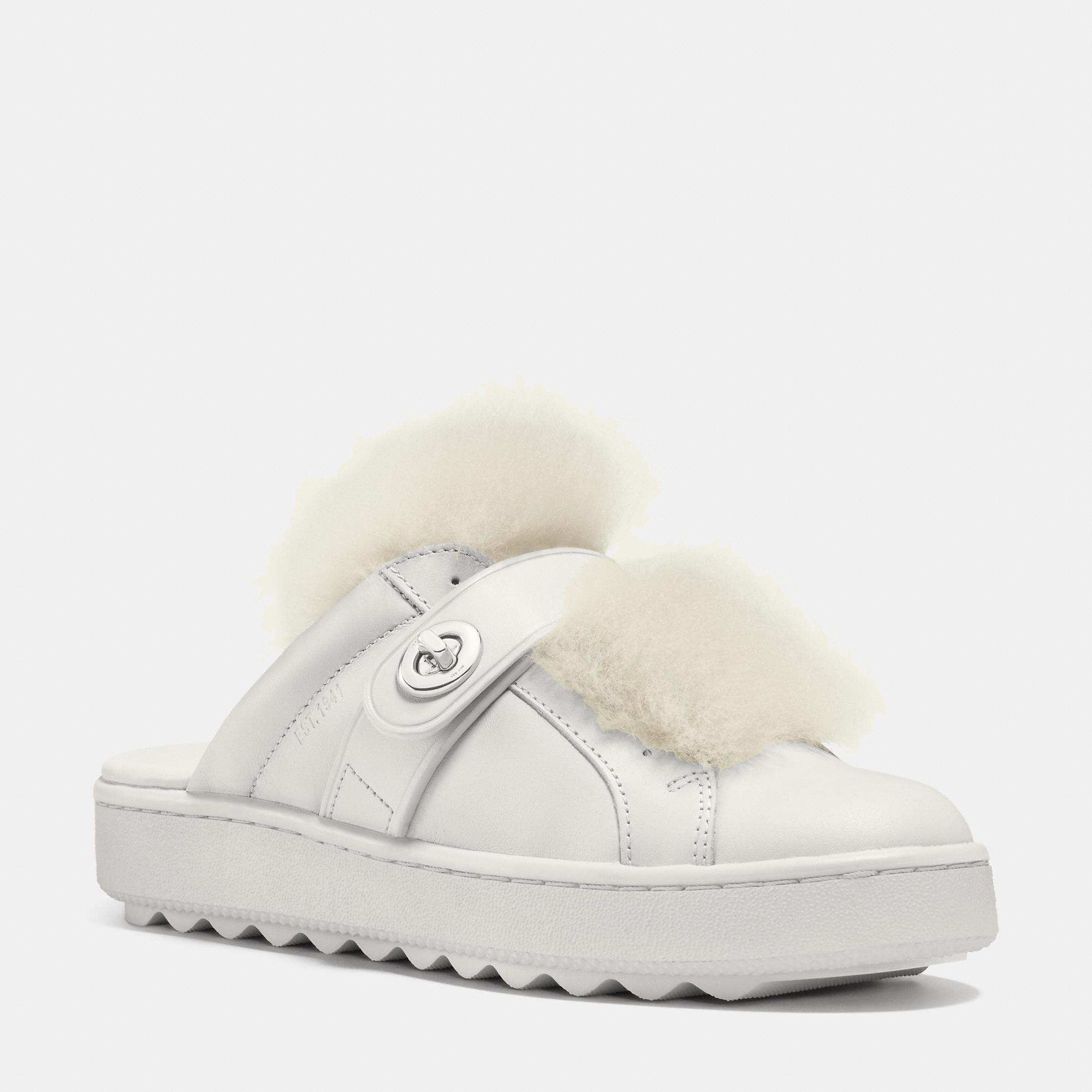 2b6e2841637 Lyst - COACH Lo Top Slide Sneaker in Natural