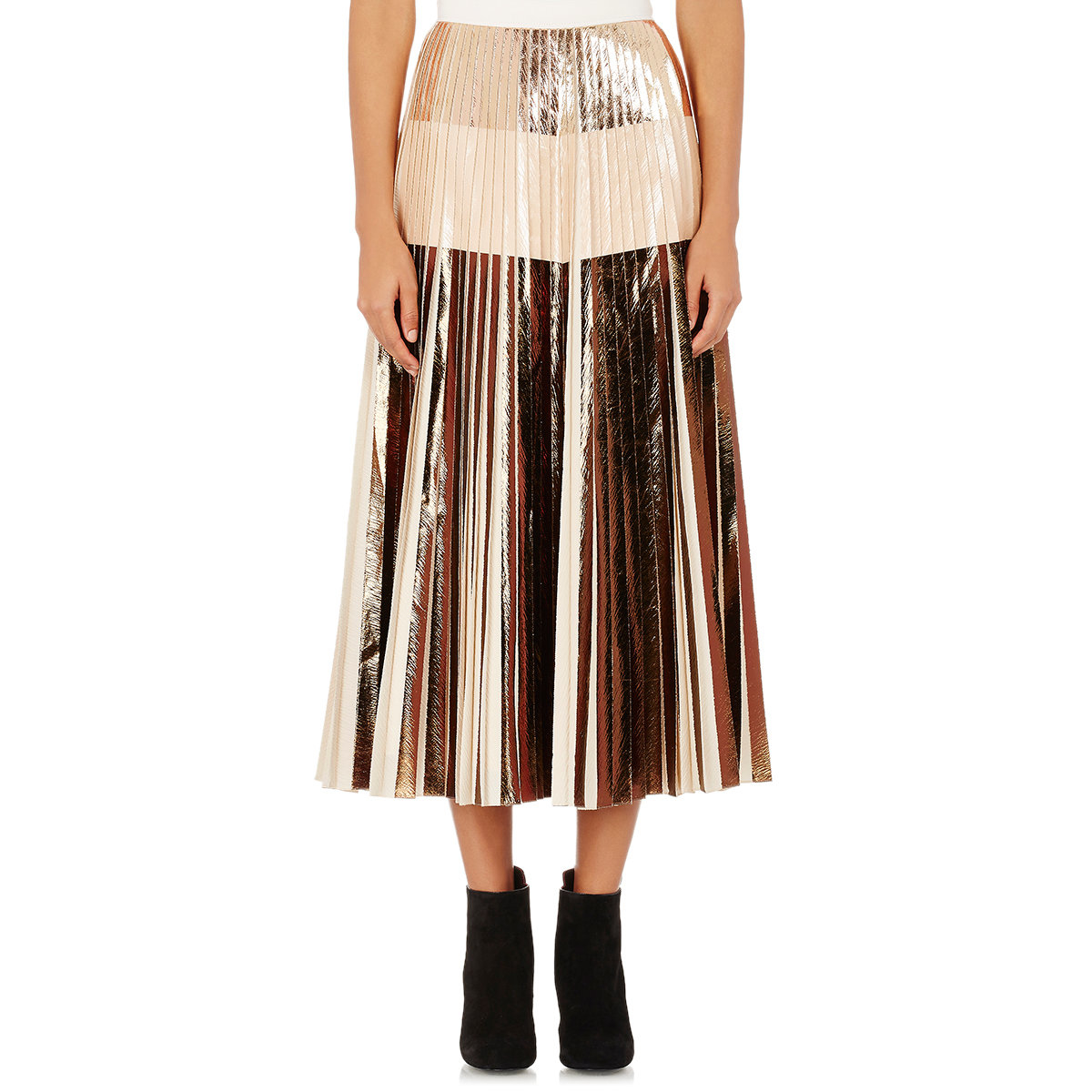 proenza schouler pleated cloqu 233 skirt in pink save 1 lyst