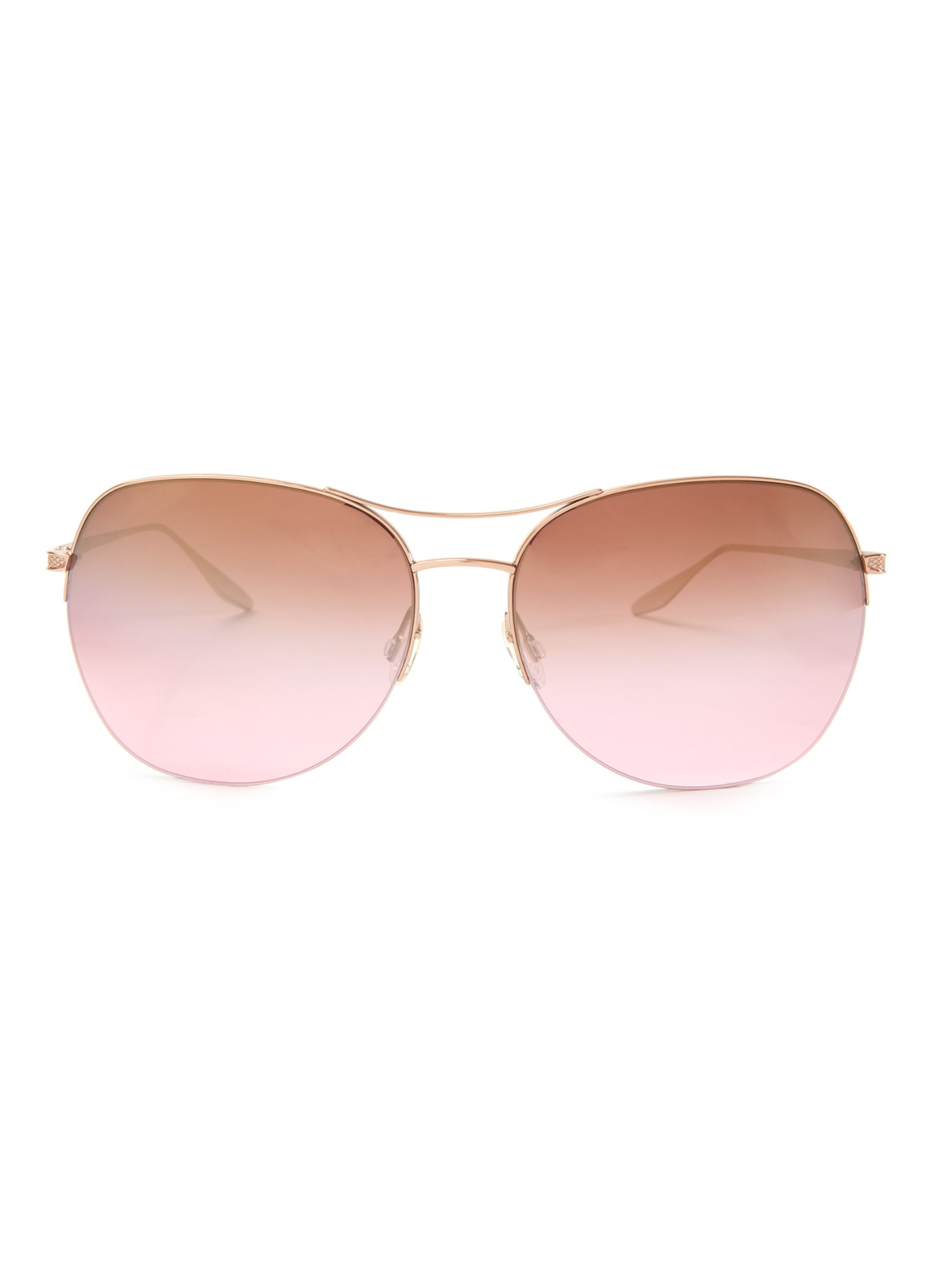 498d858ad1ac Lyst - Barton Perreira Quimby Aviator Sunglasses in Pink
