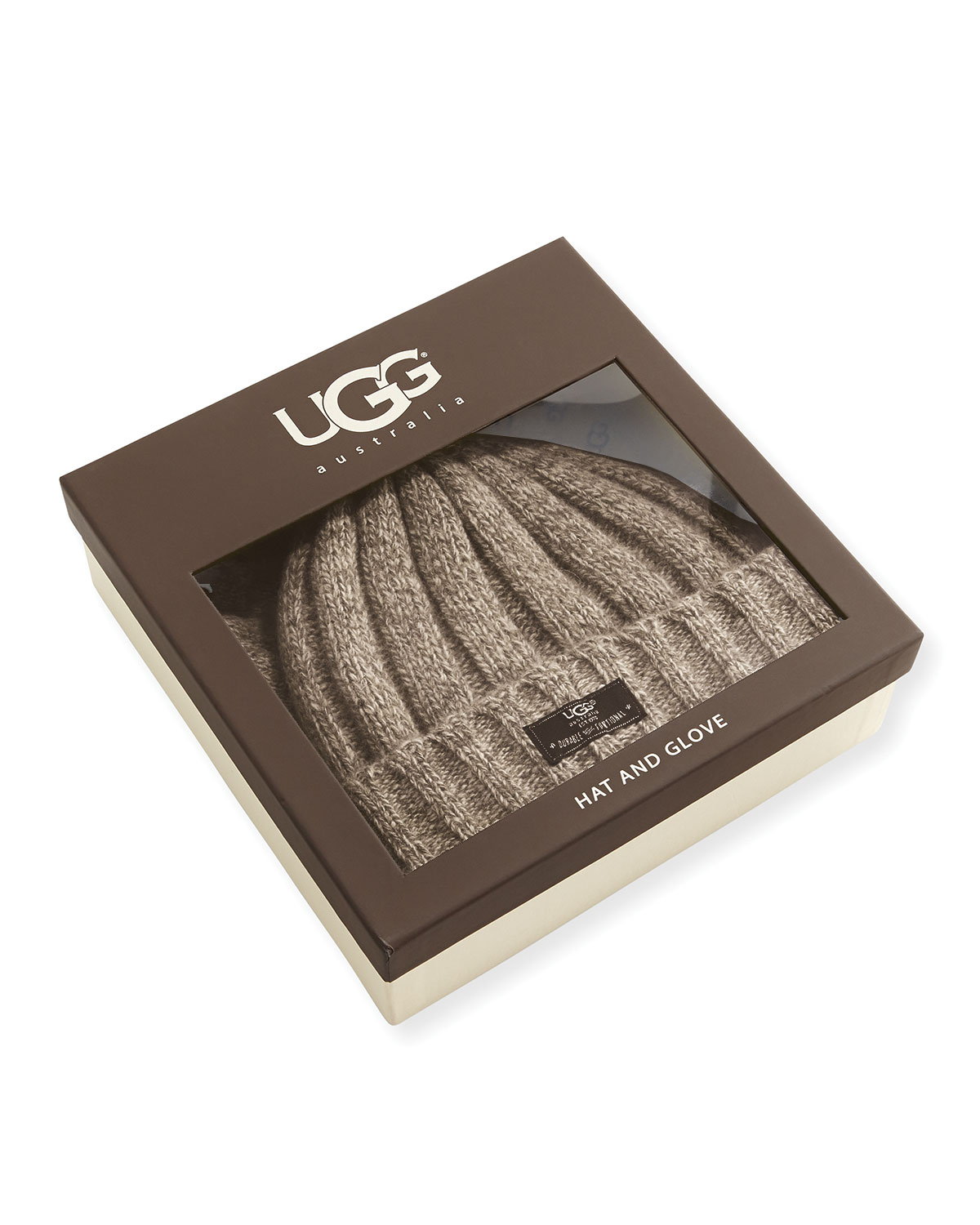 92b7aee88235e UGG Men s Hat And Glove Box Set in Natural for Men - Lyst