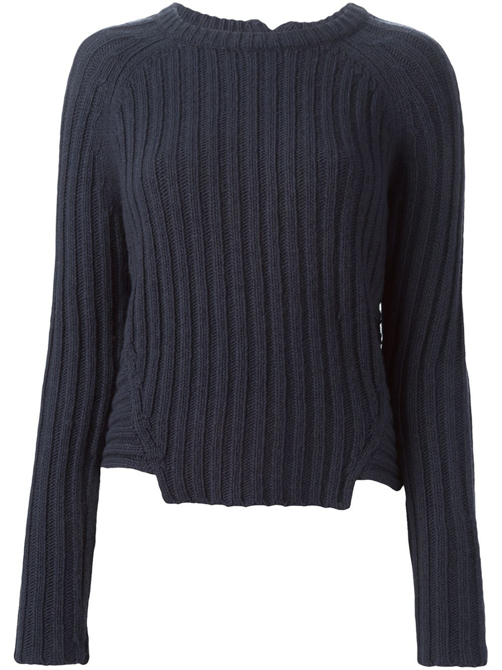 marc by marc jacobs ribbed crew neck sweater in blue lyst. Black Bedroom Furniture Sets. Home Design Ideas