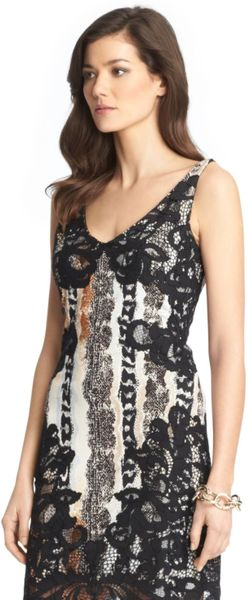 Dvf Amelia Lace Combo Wrap Dress Sara Lace Combo Dress in