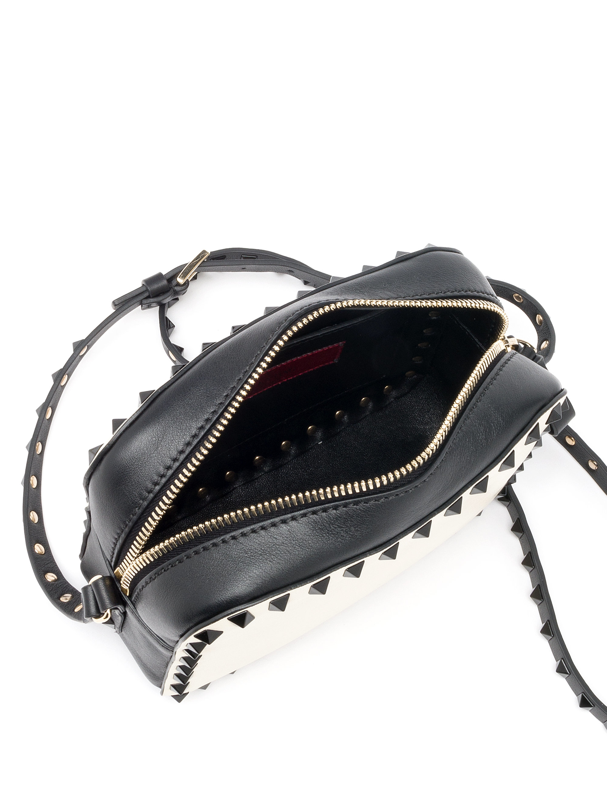 Valentino Rockstud Camera Crossbody Bag in Black  Lyst