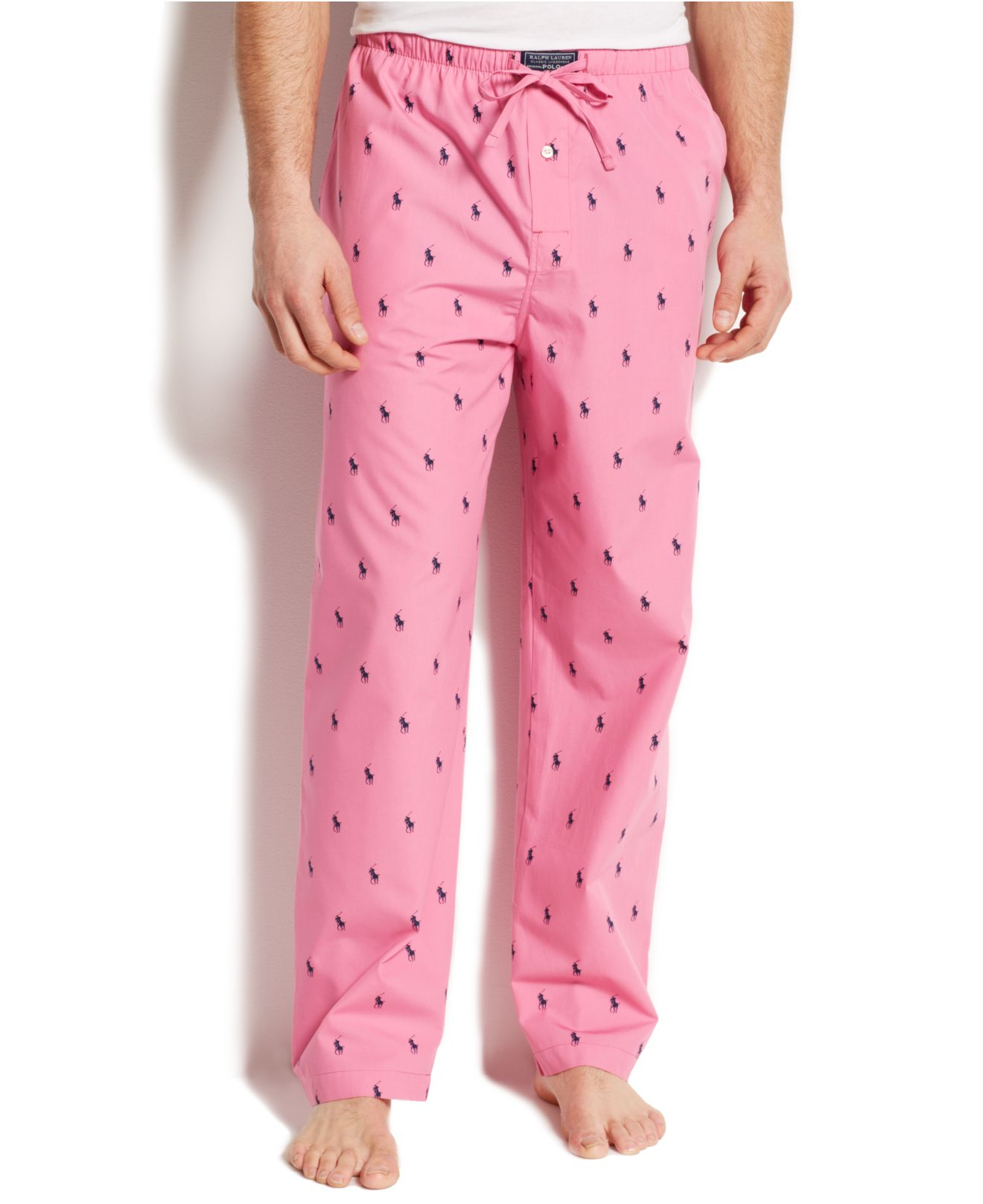 d379b029a9e Lyst - Polo Ralph Lauren Allover Pony Pajama Pants in Pink for Men