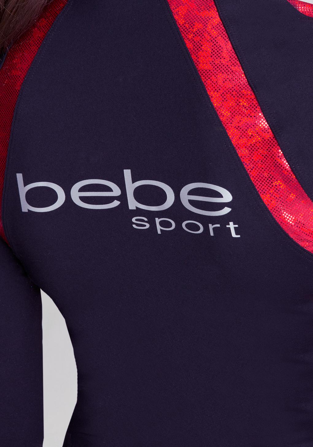 Lyst Bebe Iridescent Raglan Jacket In Red Kaos Gallery