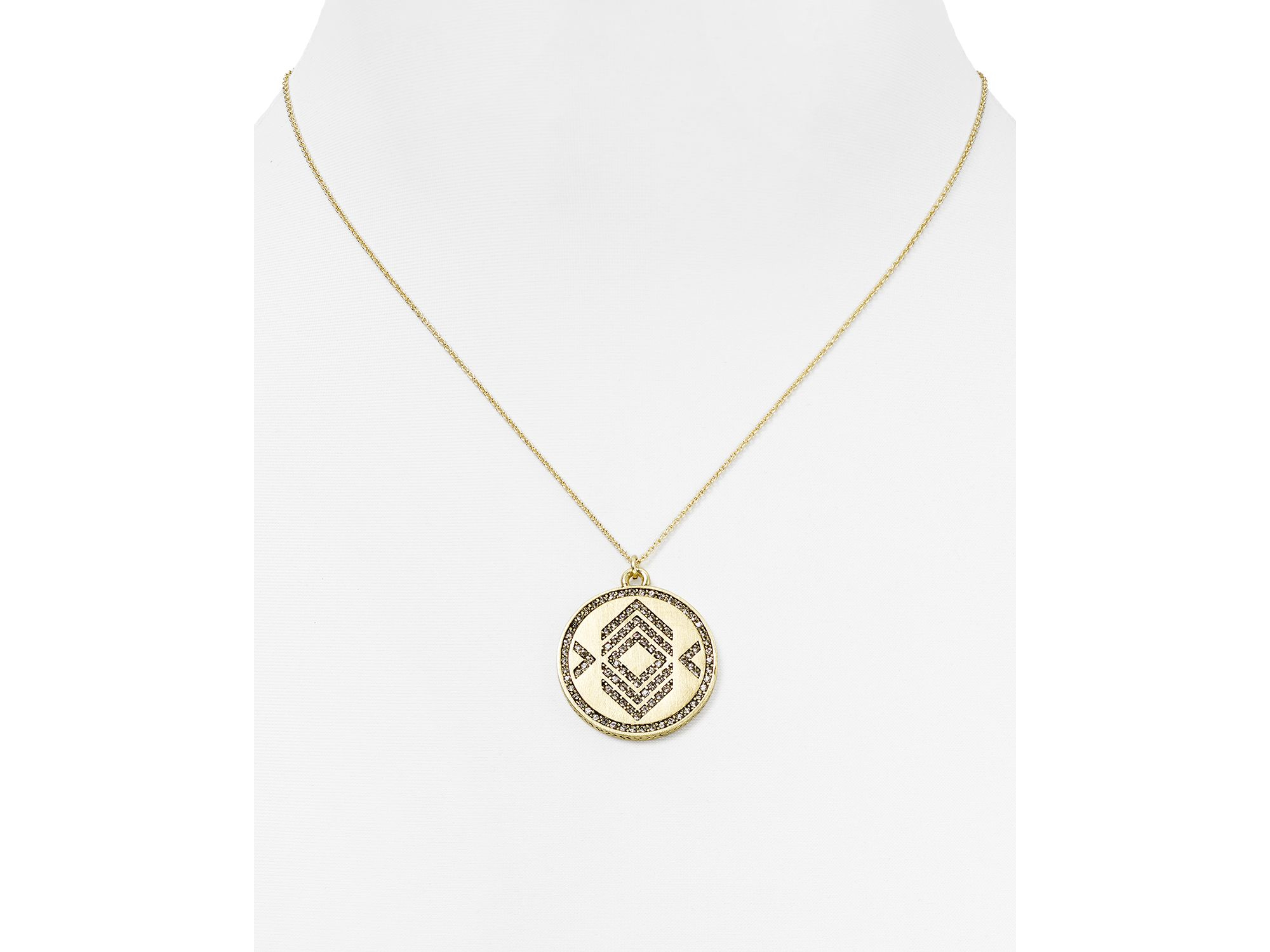Lyst house of harlow 1960 1960 andes reversible coin pendant gallery mozeypictures Image collections