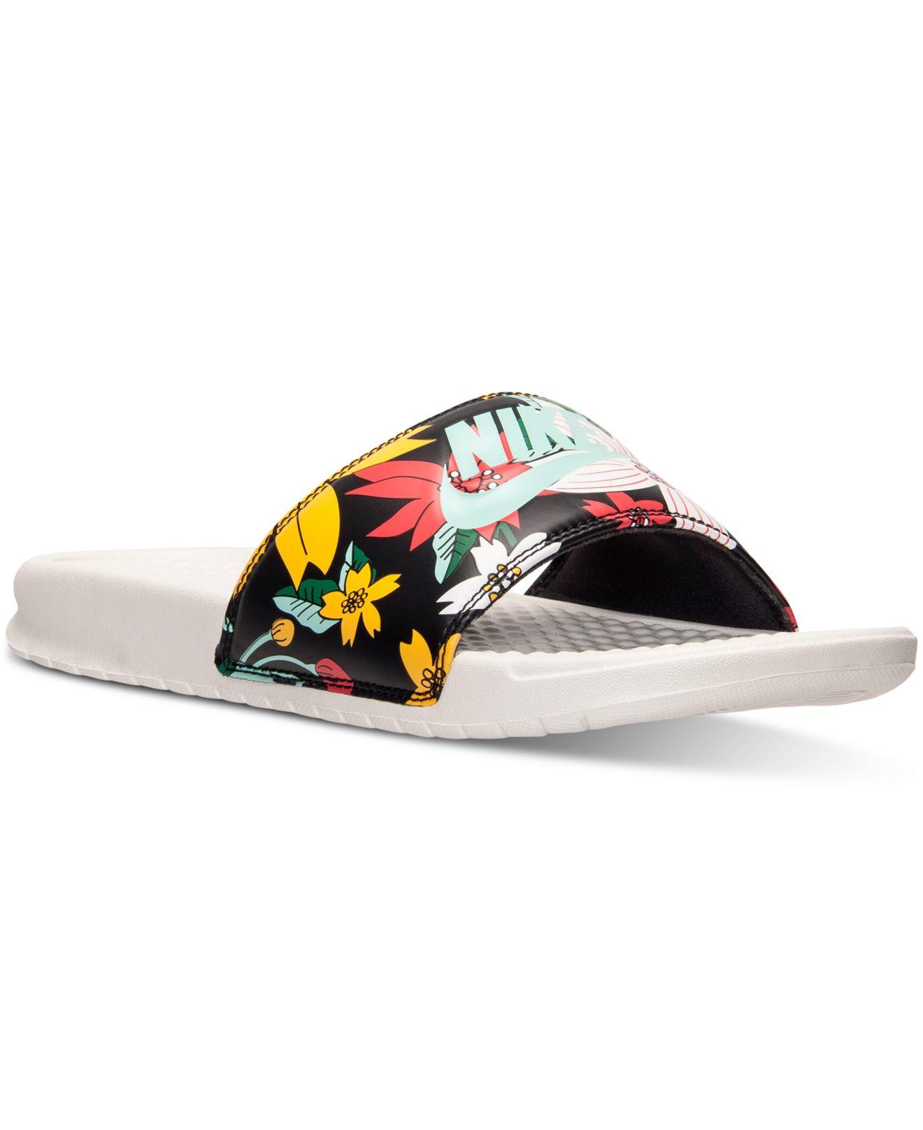 49f72a56be65b Lyst - Nike Women s Benassi Jdi Print Slide Sandals From Finish Line ...