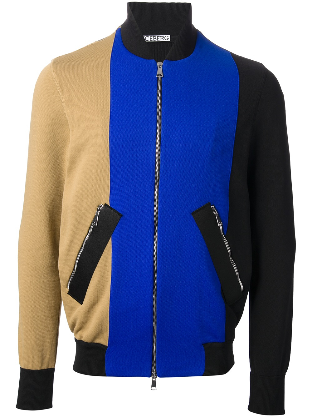 Iceberg Colour Block Bomber Jacket in Black for Men | Lyst
