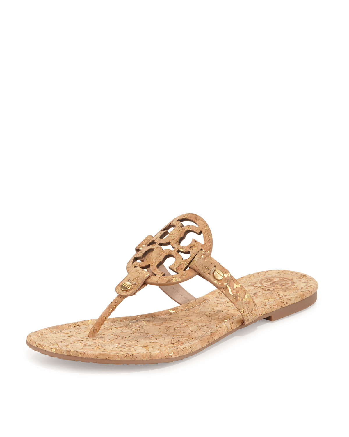 3d23a5ad45f Lyst - Tory Burch Miller Cork Sandals in Natural