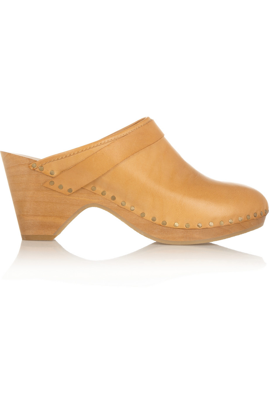 Lyst - Isabel Marant Towson Leather and Wooden Clogs in Orange e70dc757f