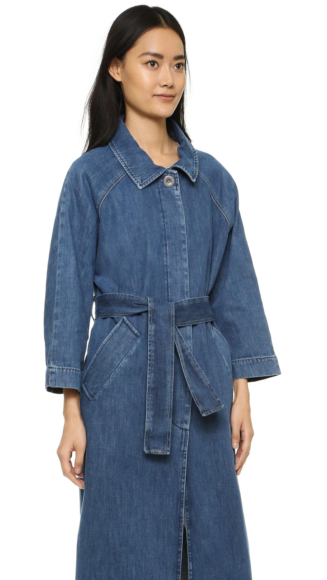 Lyst - M.I.H Jeans Raglan Denim Coat in Blue