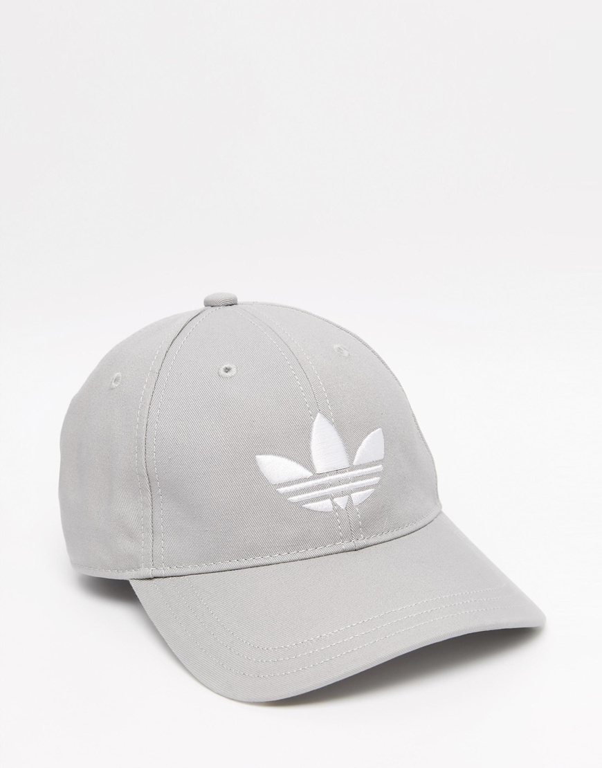 f7f438d7983 ... coupon code for adidas originals trefoil cap in grey in gray for men  lyst 2e6ee e3462