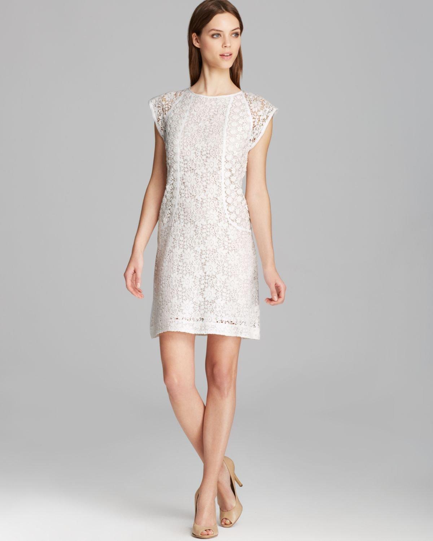 c3a0cc91423 Lyst - Trina Turk Dress Clara Cap Sleeve Summertime Lace in White