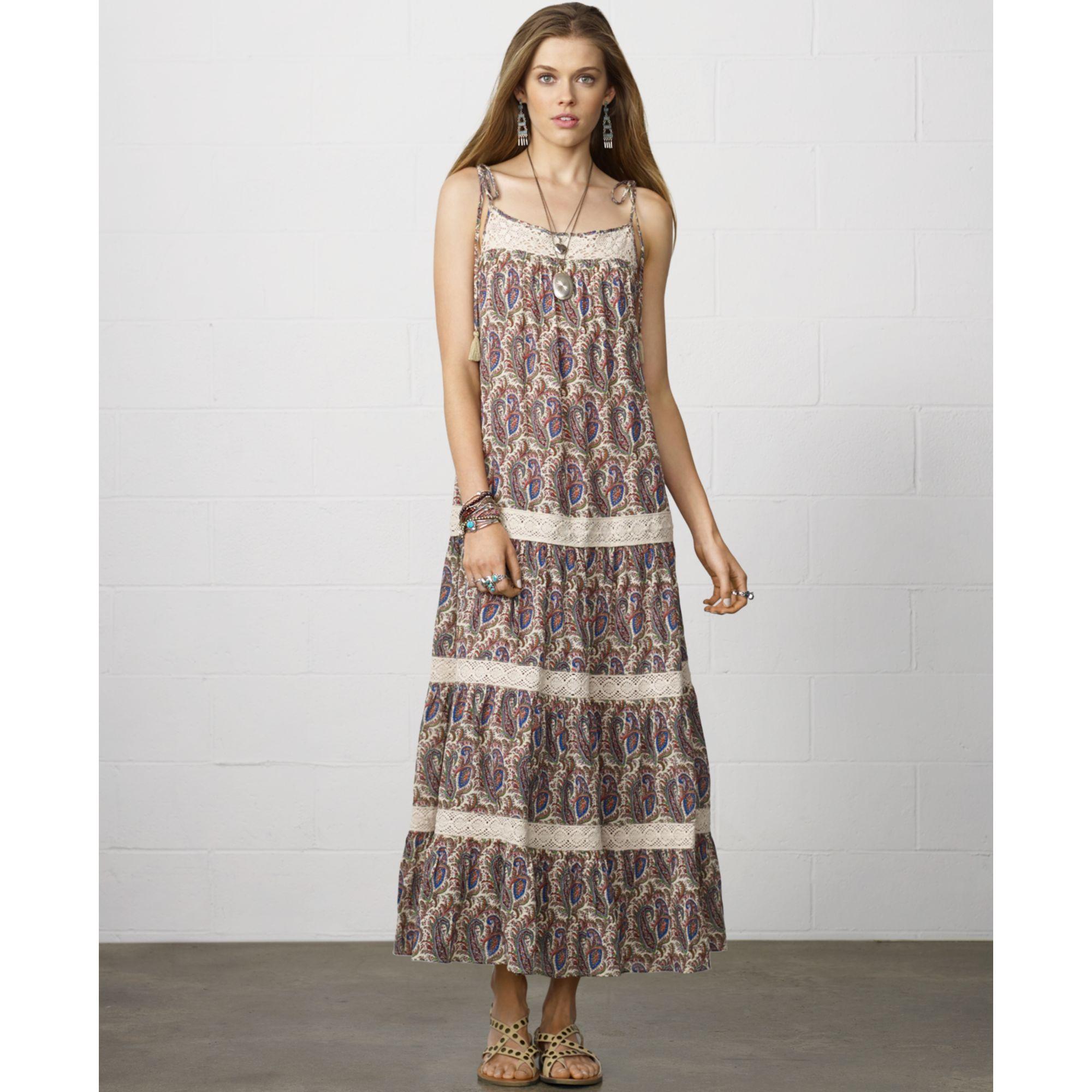 Ralph lauren paisley maxi dress