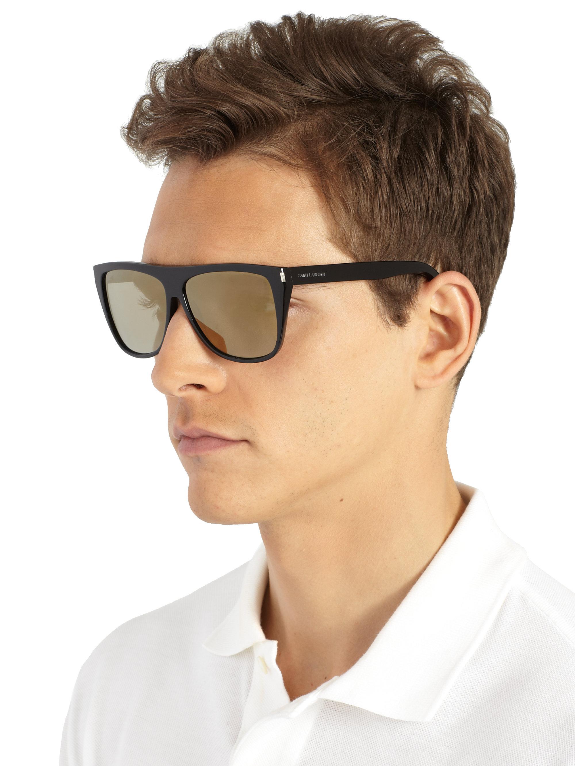 7fe0f98bea Lyst - Saint Laurent Oversized Square Sunglasses in Black for Men