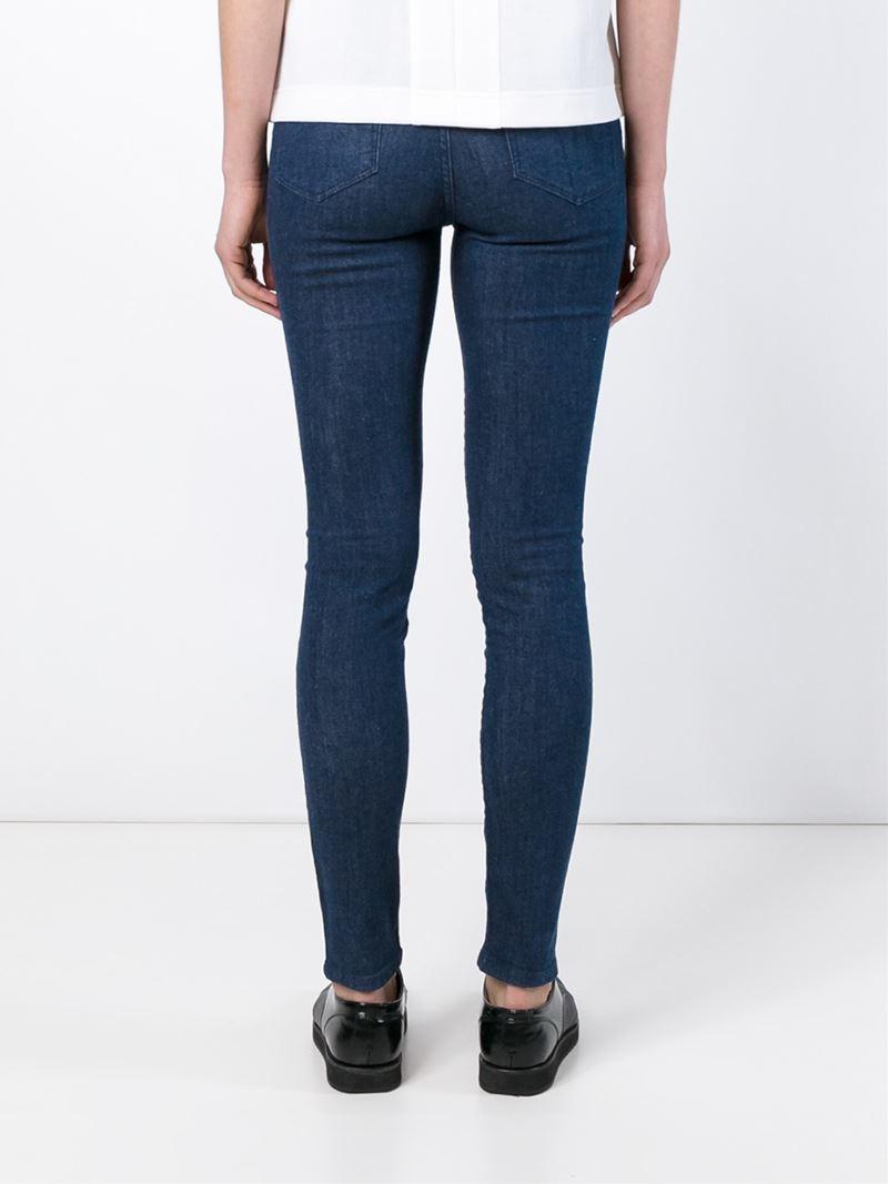 lyst victoria beckham skinny jeans in blue. Black Bedroom Furniture Sets. Home Design Ideas