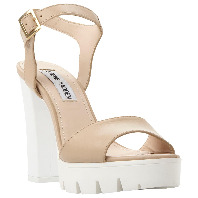 c1c452250875 Steve Madden Traviss Platform Block Heeled Sandals in Natural - Lyst