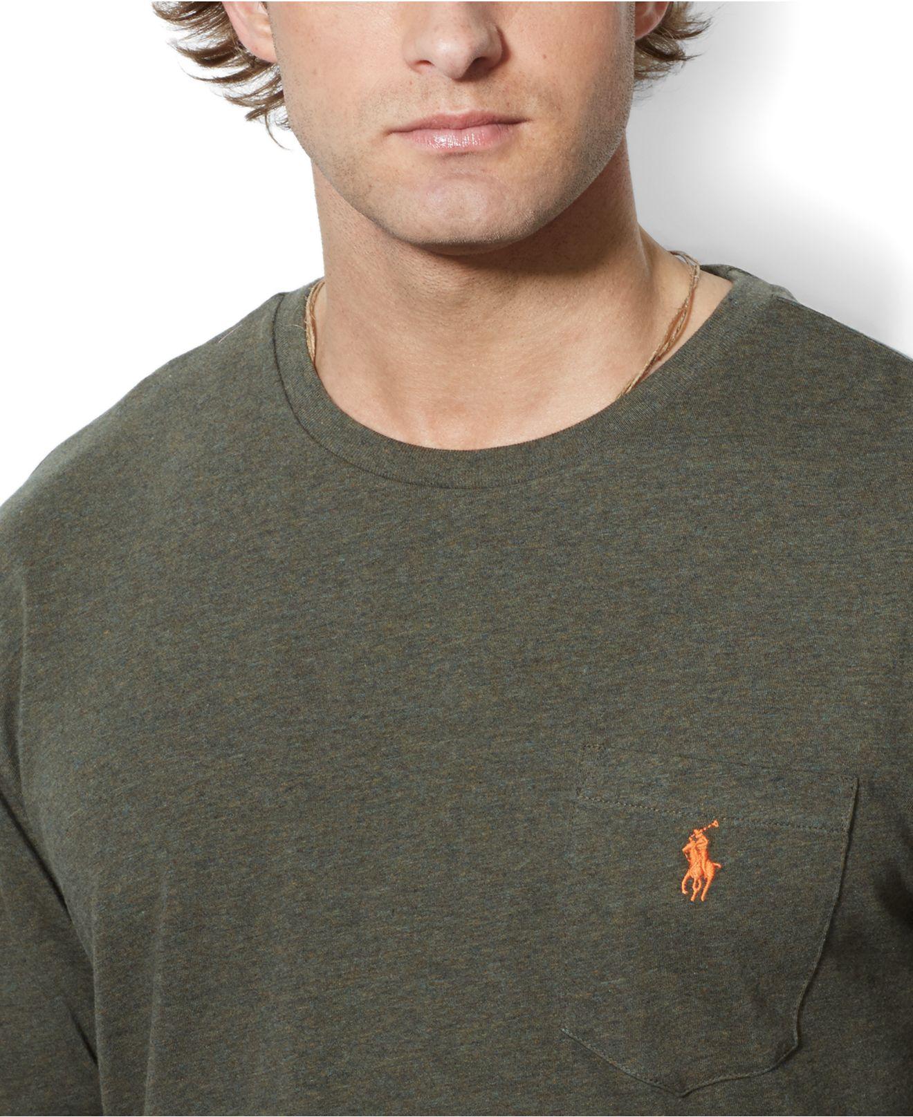 Shirt Ralph Date Sleeve Long Release Polo 09dad Lauren Pocket 81b3b LA543Rjq