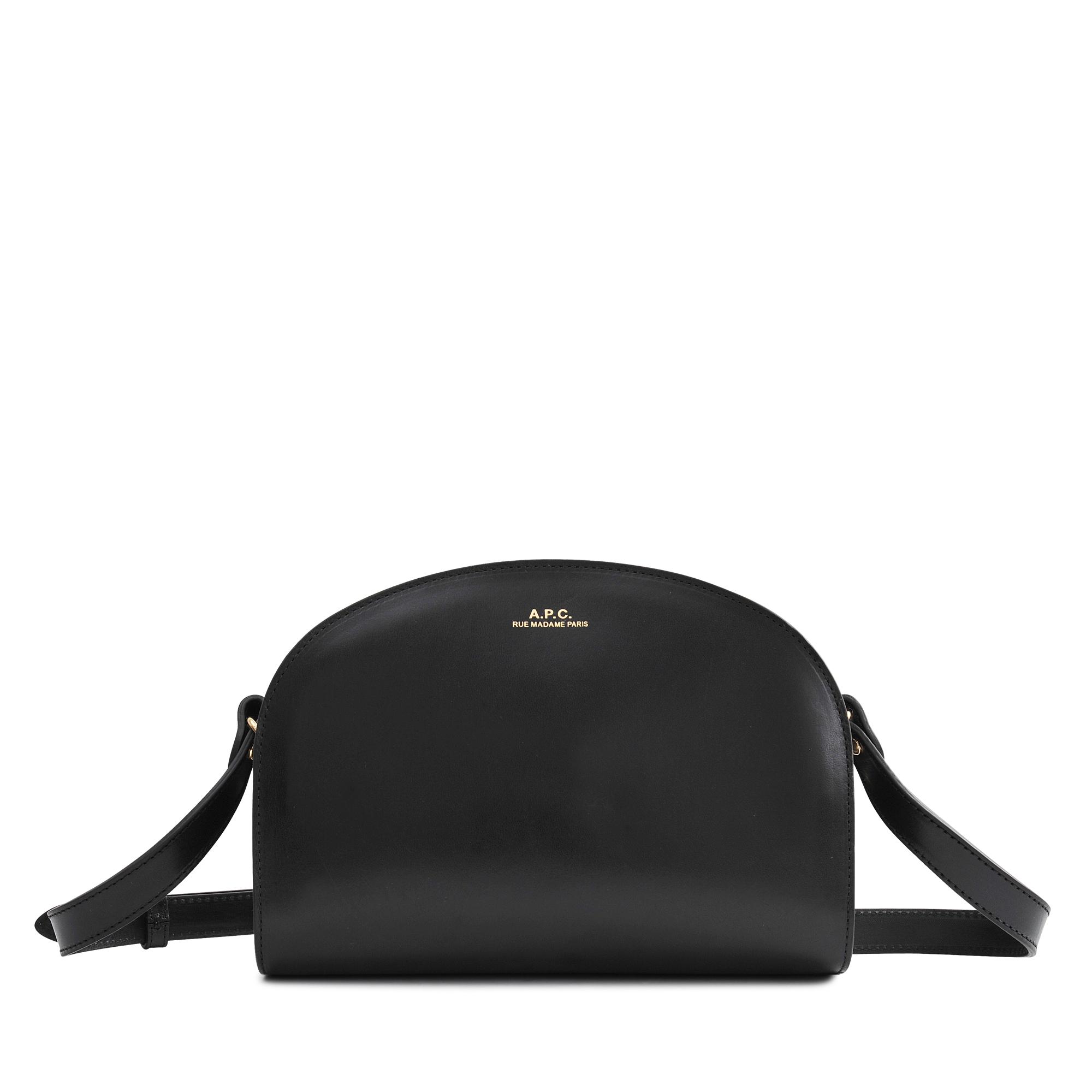 a p c half moon bag in black lyst. Black Bedroom Furniture Sets. Home Design Ideas