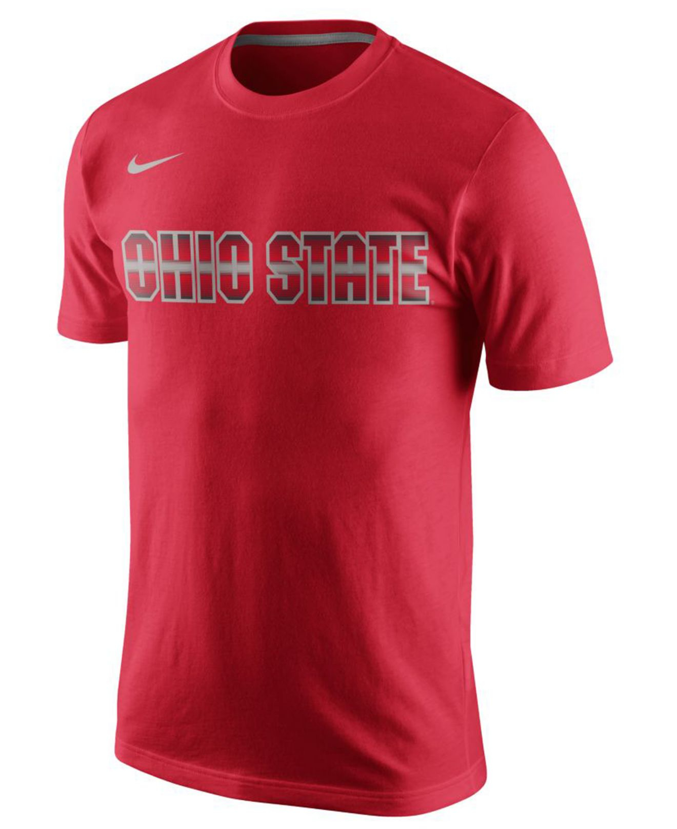 Nike men 39 s ohio state buckeyes disruption t shirt in green for Ohio state shirts mens