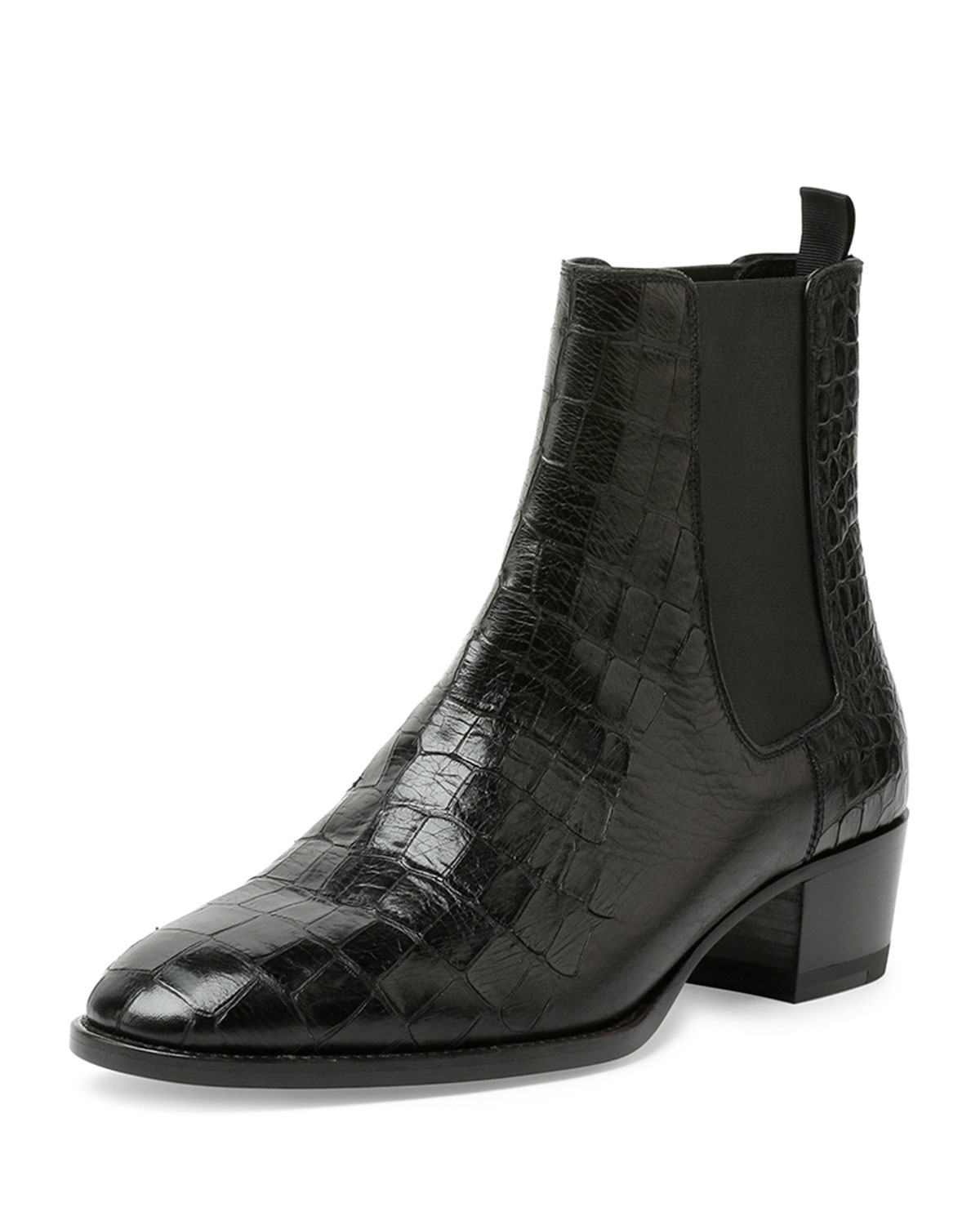 Saint Laurent Embossed Suede Ankle Boots discount cheap price popular cheap price sale big sale order for sale 87gwo