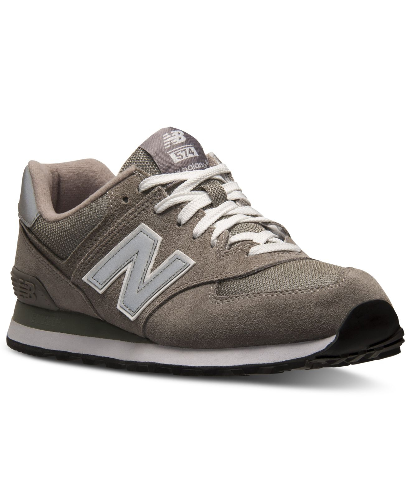 new balance 574 grey suede wedge