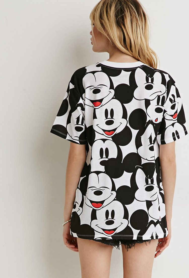21 Mickey Mouse Nail Art Designs Ideas: Forever 21 Mickey Mouse Tee In Black