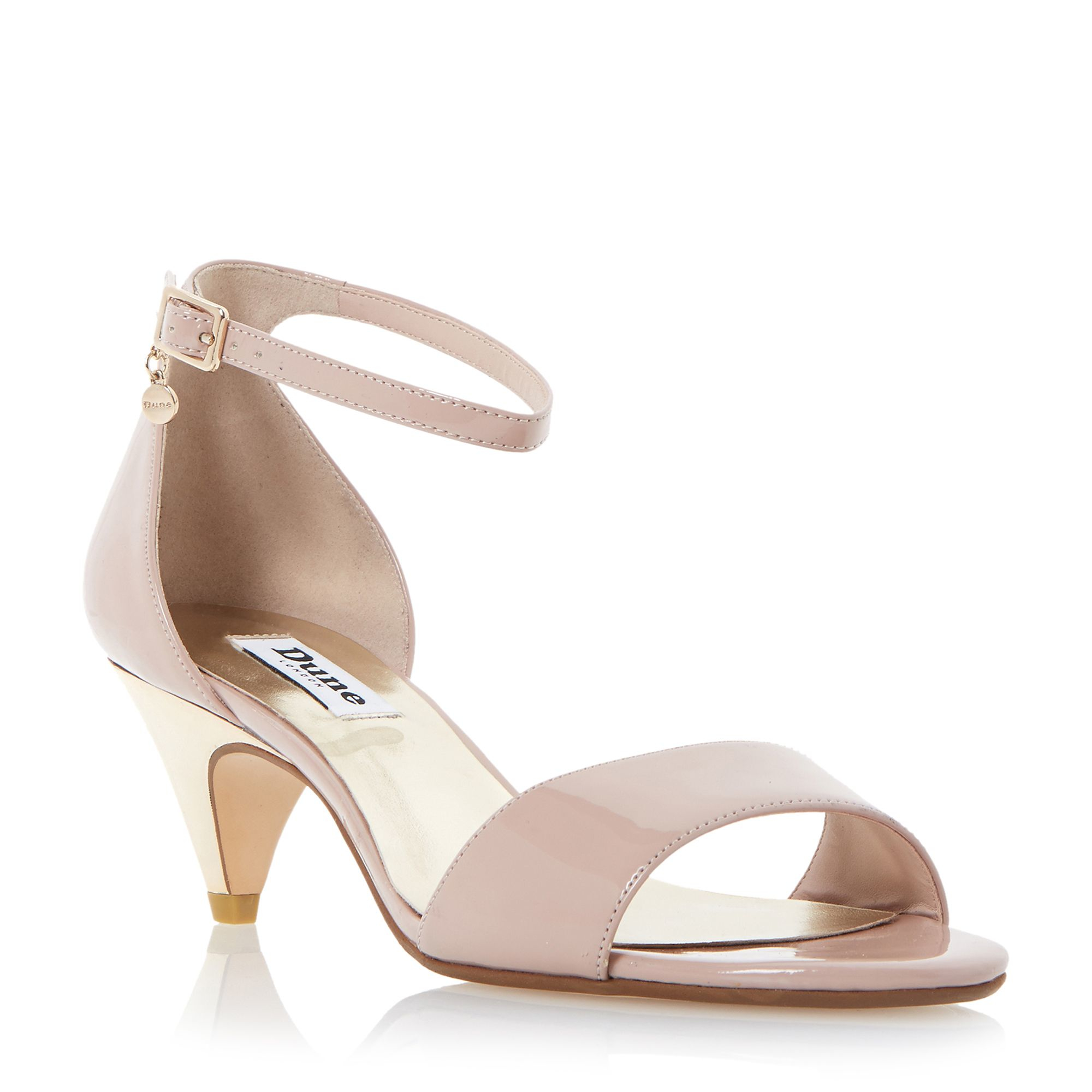dune marina two part kitten heel sandals in pink blush lyst. Black Bedroom Furniture Sets. Home Design Ideas