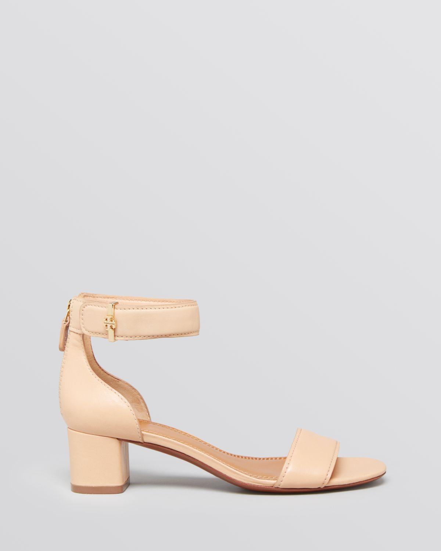 9c73cbeeaf5 Lyst - Tory Burch Ankle Strap Sandals Tana Block Heel in Pink