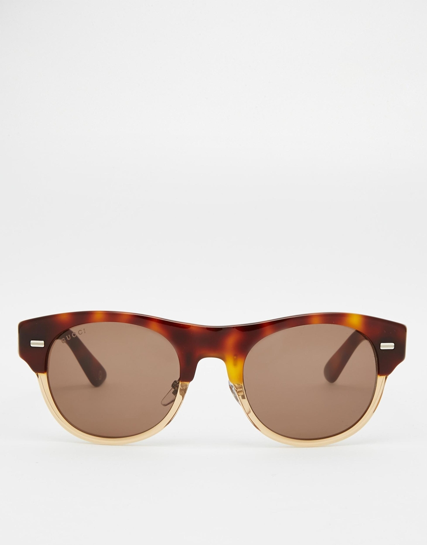 clubmaster acetate sunglasses  Gucci Clubmaster Acetate Sunglasses in Brown for Men