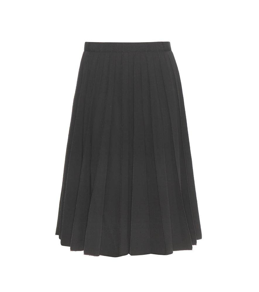 marc pleated wool skirt in black lyst
