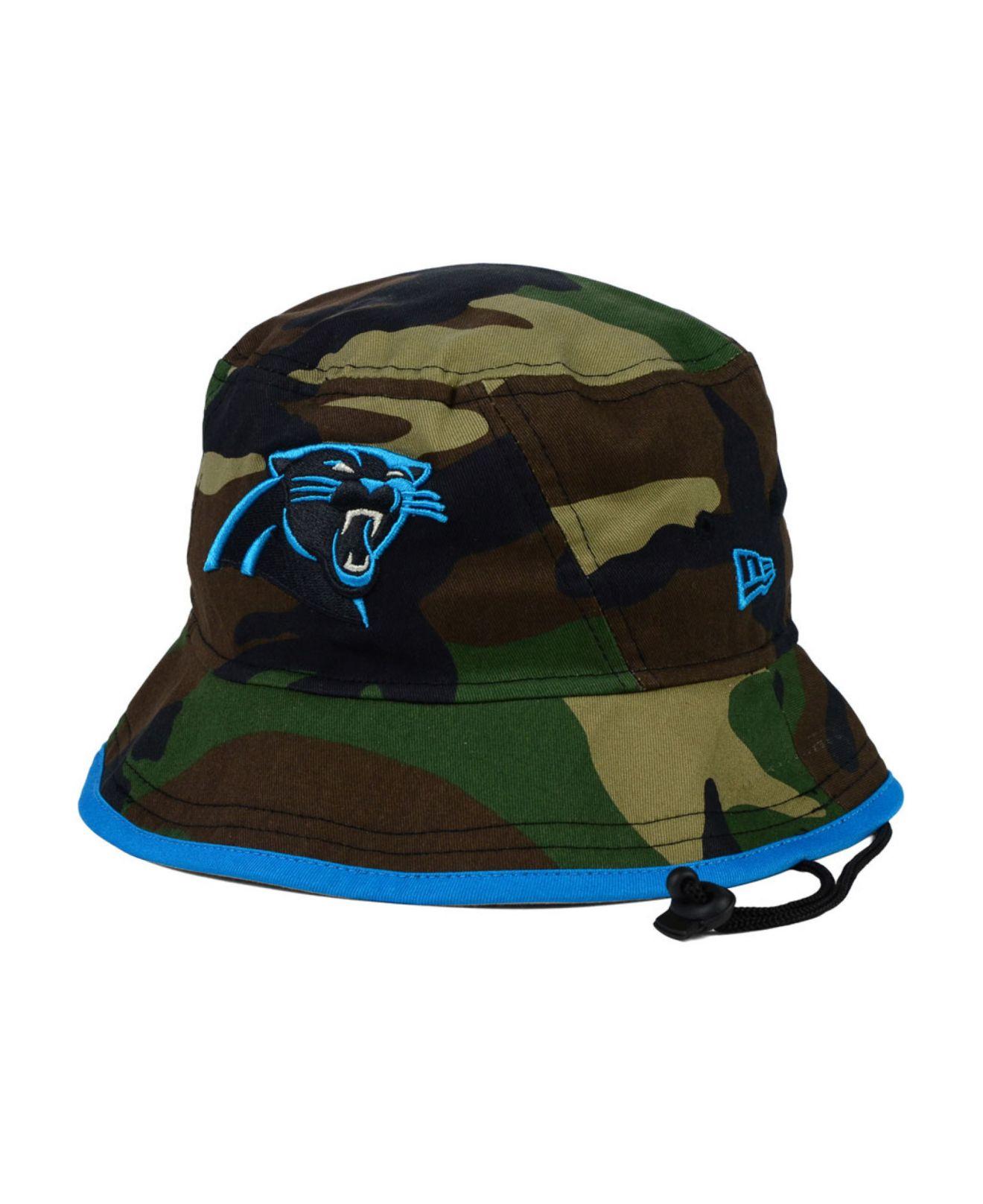 Lyst - KTZ Carolina Panthers Camo Pop Bucket Hat in Green for Men da0038f00