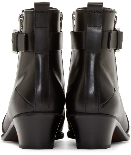 Gallery  sc 1 st  Lyst & Lyst - Costume National Black Leather Zip Ankle Boots in Black for Men