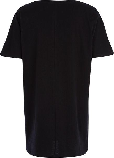 River Island Black Leopard Print Oversized T Shirt Dress