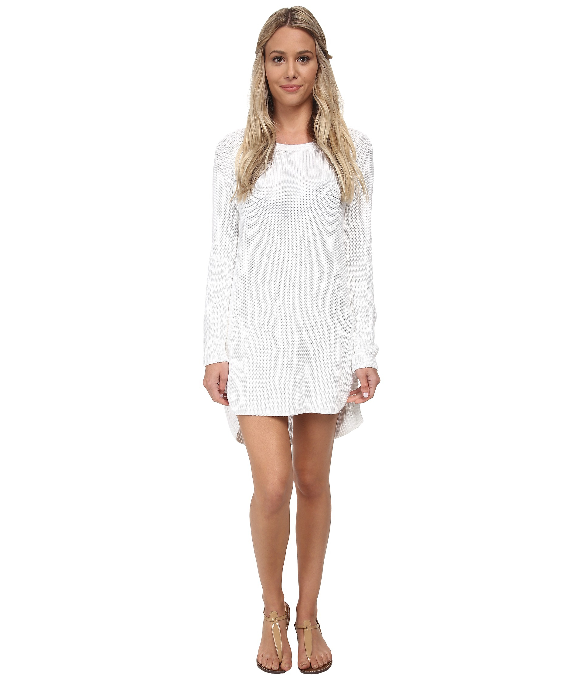 5ea459851f8ed Tommy Bahama Zipper Beach Sweater Cover-up in White - Lyst
