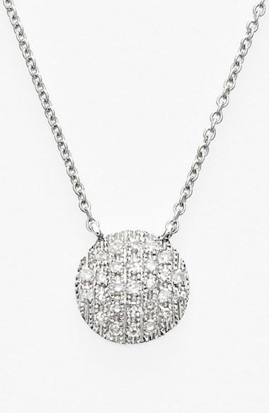 Dana Rebecca Lauren Joy Diamond Disc Pendant Necklace In