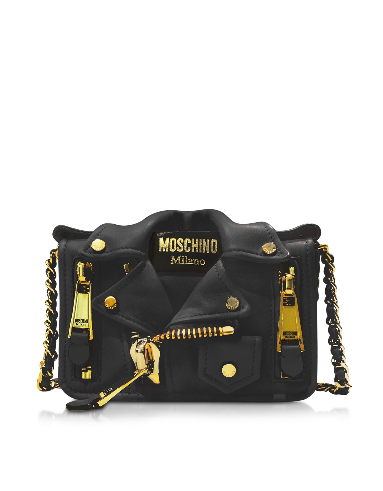 Moschino Biker Jacket crossbody - Black xEbPT4Inpi
