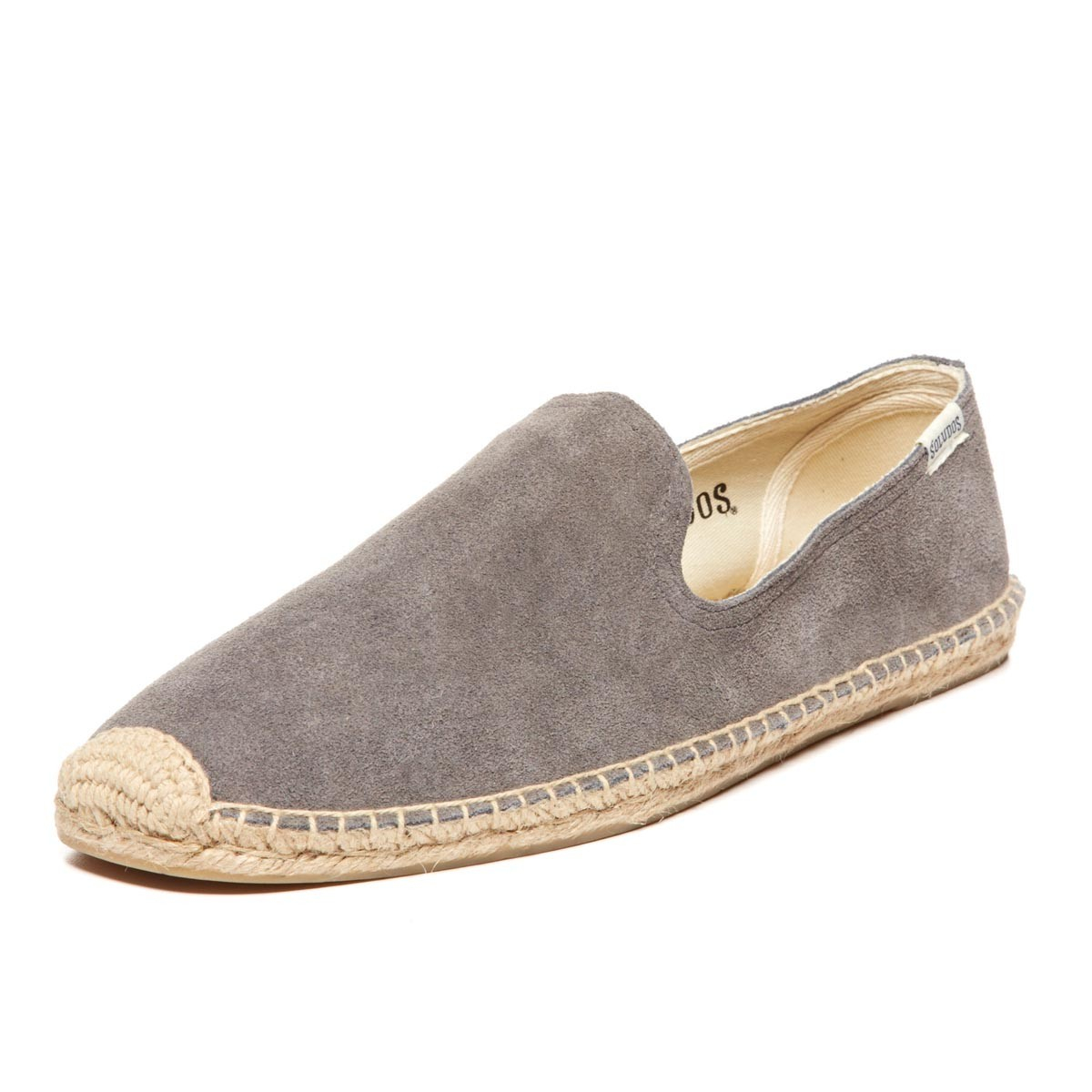 Soludos Mens Suede Smoking Slipper In Gray For Men Lyst
