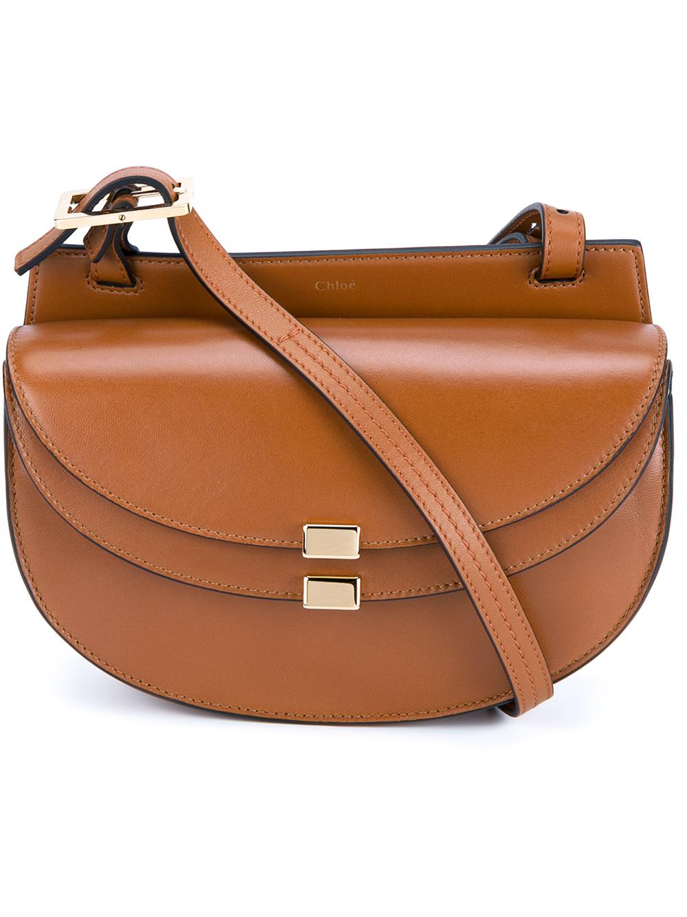 Chloé  georgia  Crossbody Bag in Brown - Lyst 043f47fe8b