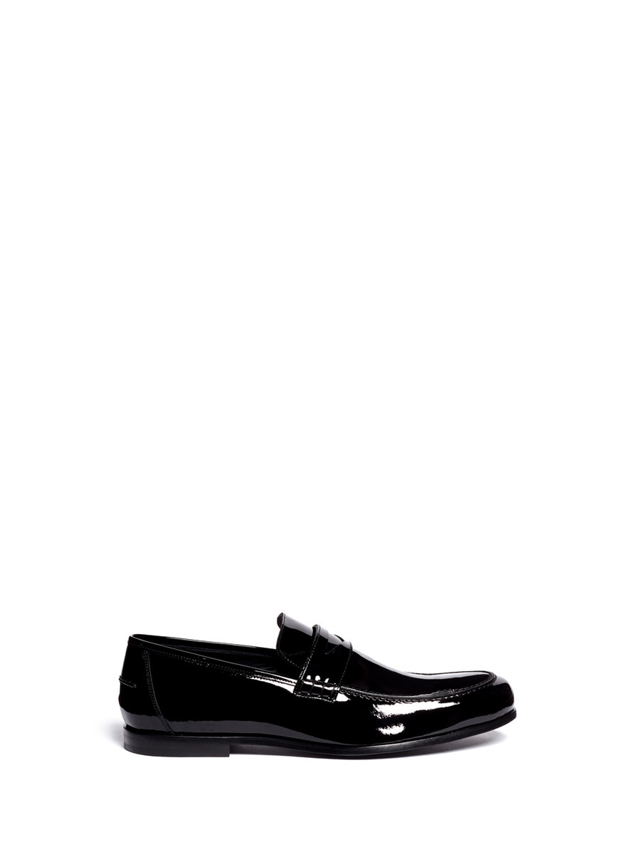 527400e8c24 Jimmy Choo Darblay Patent Leather Penny Loafers in Black for Men - Lyst