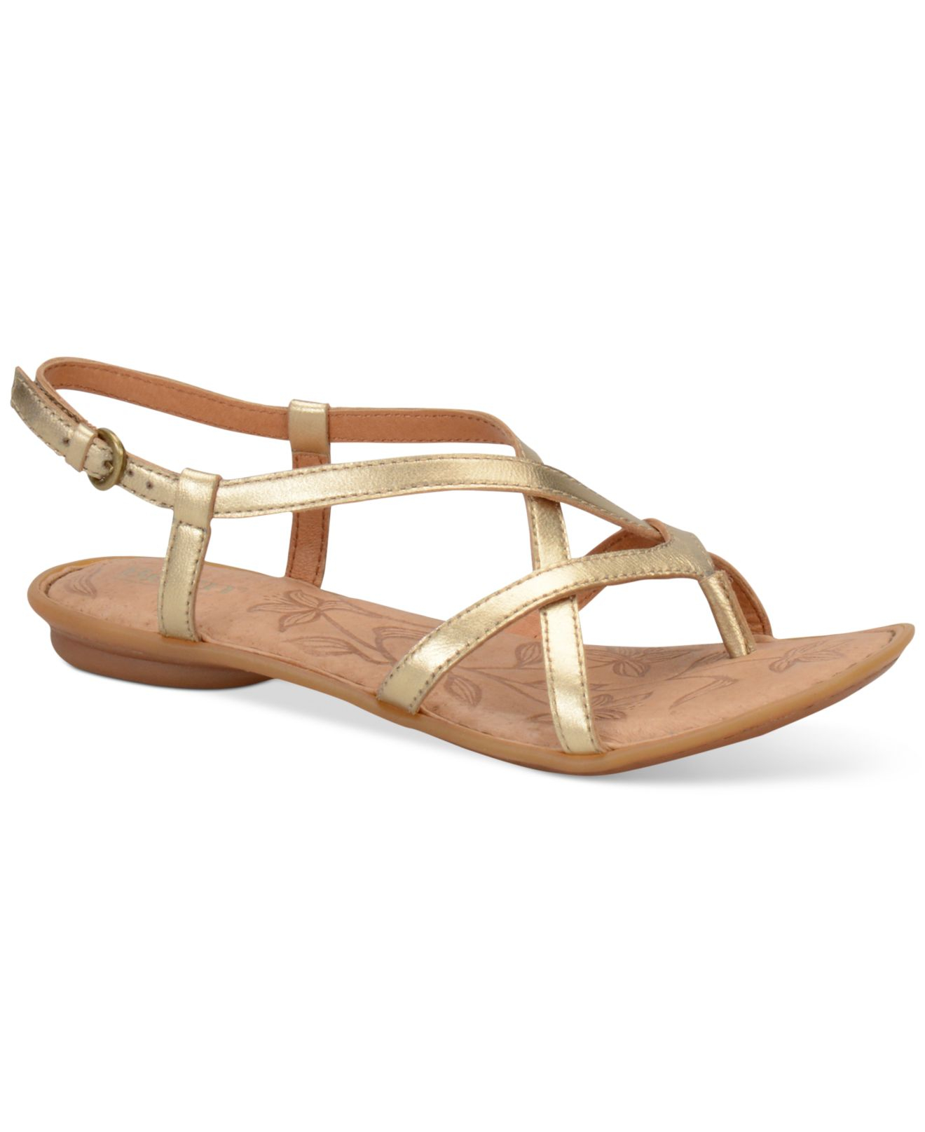 c976d1db172b Lyst - Born Mai Flat Sandals in Metallic