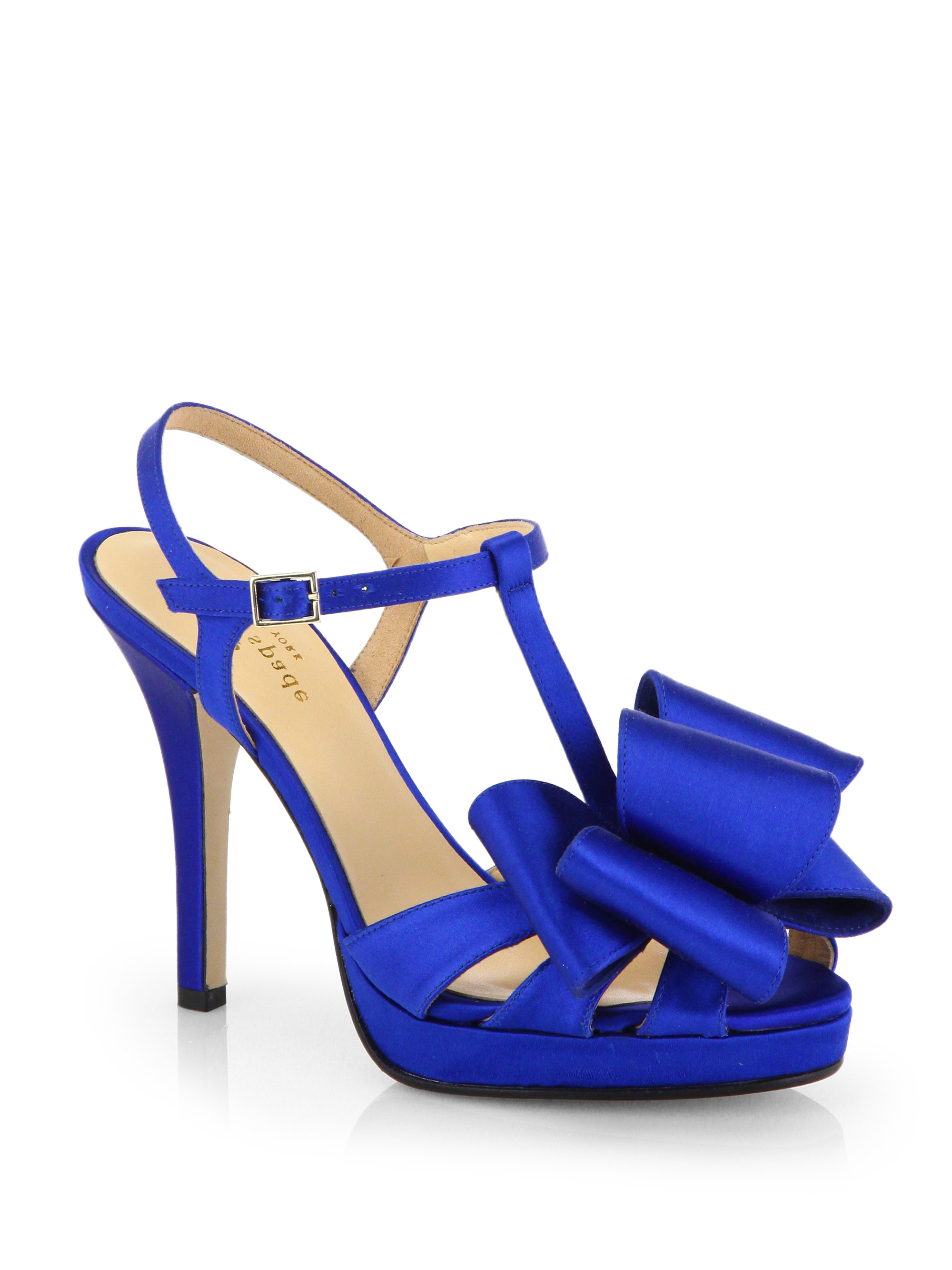 Kate spade new york Satin Ribbon Sandals in Blue