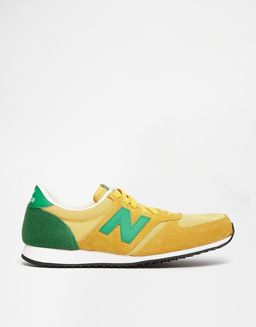 faf30e84cb553 ... discount code for lyst new balance 420 suede sneakers in yellow for men  99f53 8cd60