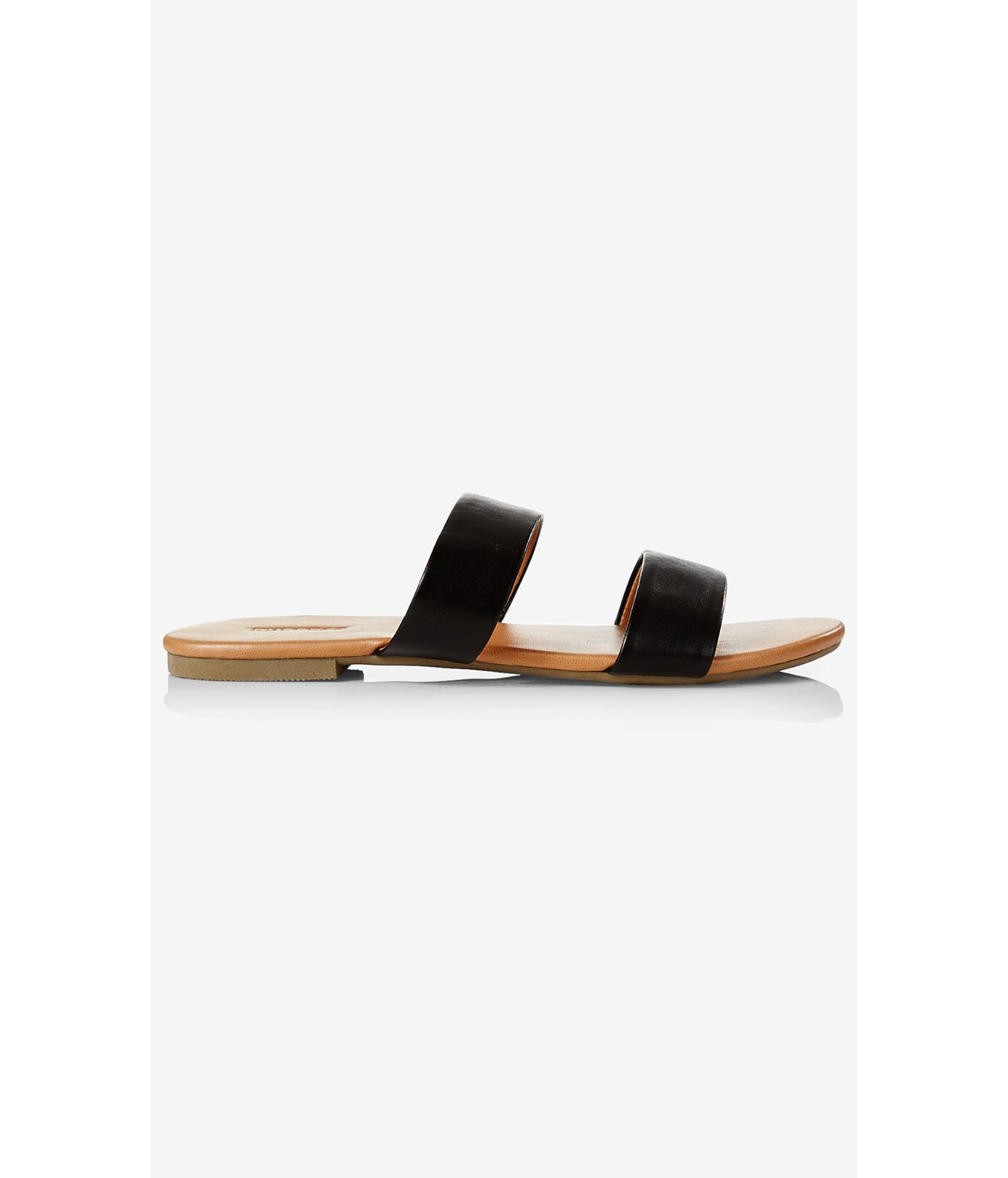 Black sandals for wide feet