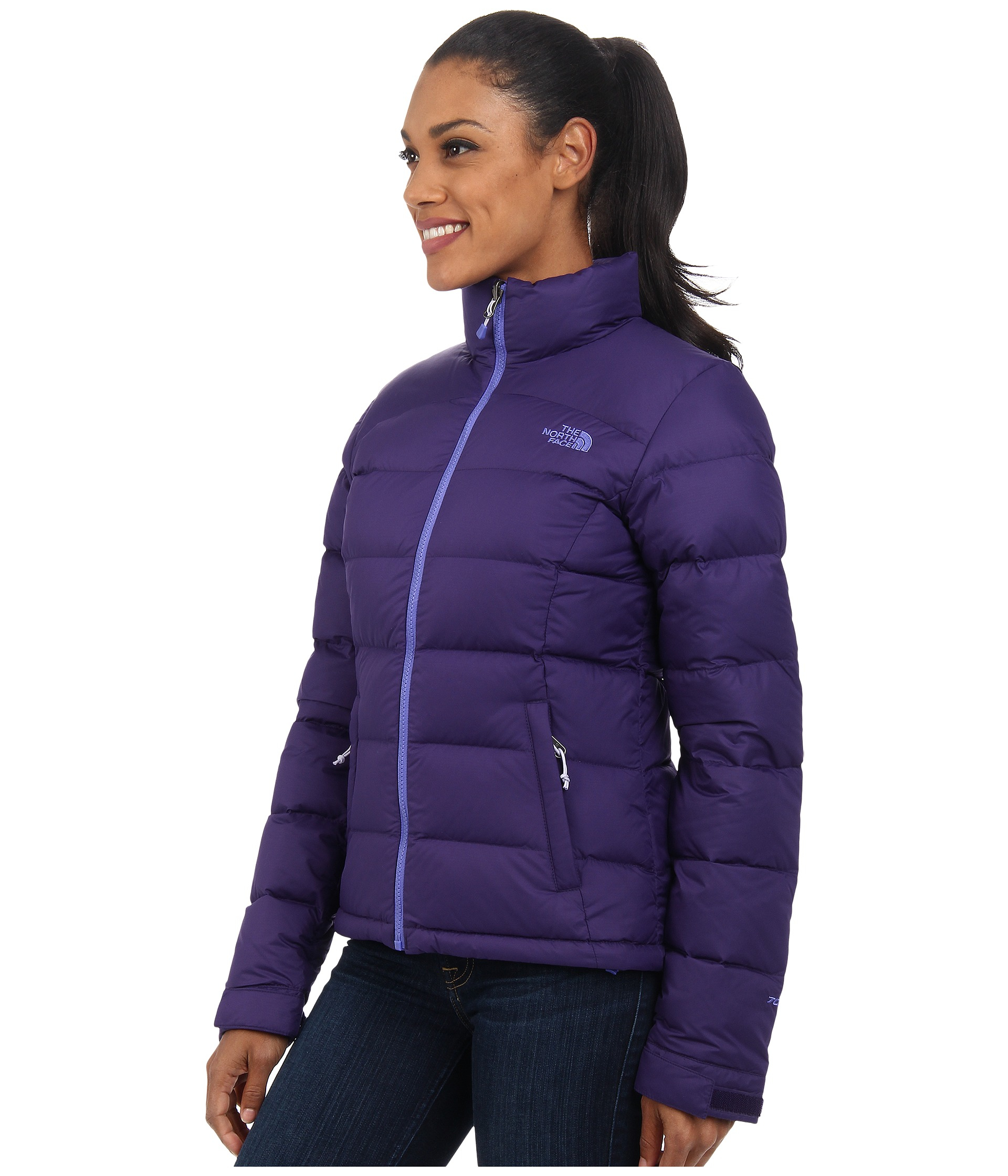 lyst the north face nuptse 2 jacket in purple. Black Bedroom Furniture Sets. Home Design Ideas