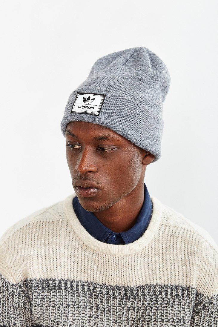 8f670d1d35813 adidas Originals Victors Knit Beanie in Gray for Men - Lyst