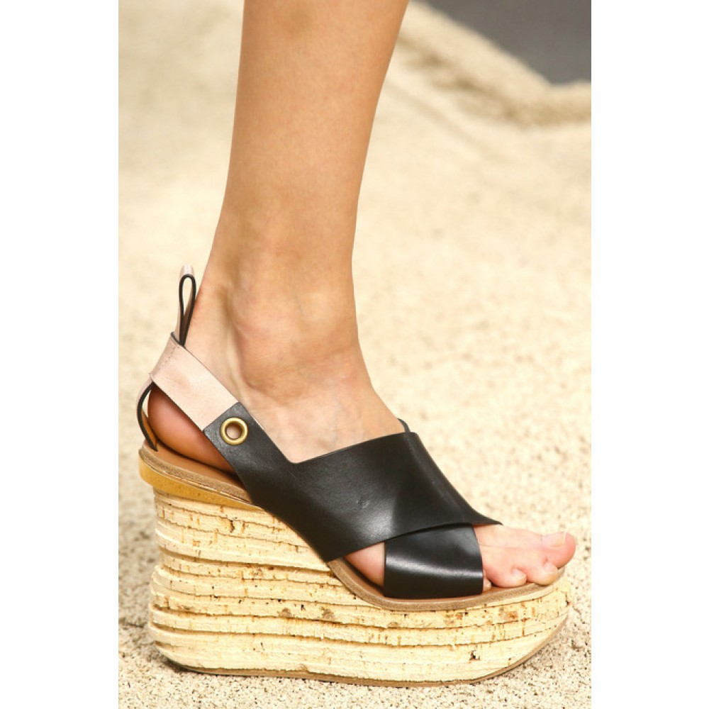Camille leather platform sandals Chlo q3mMj7CWHE